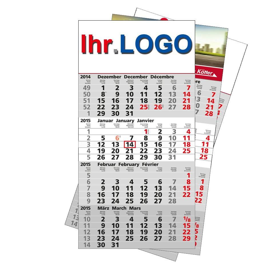 4-Monats Kalender 2022 als bedrucktes Werbegeschenk