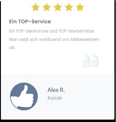 TOP-Service mit Logo-Druck