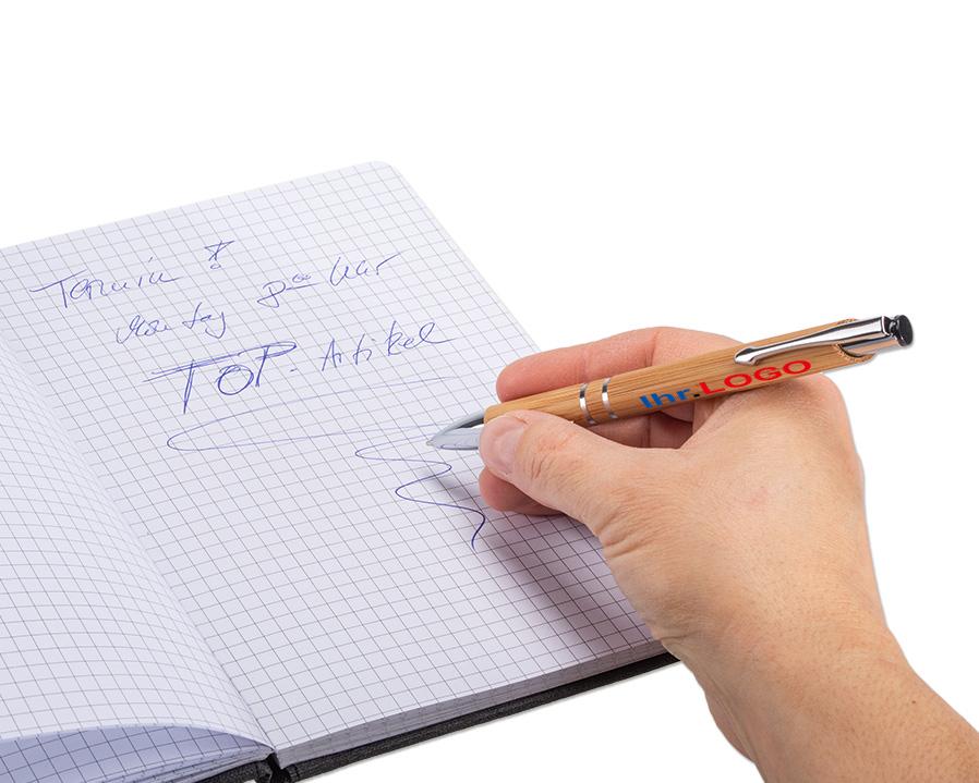 Bambus Kugelschreiber als bedruckter Werbeartikel