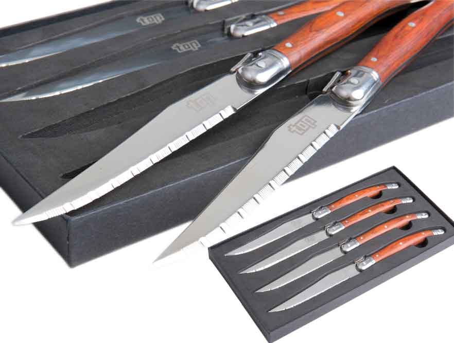 Steak-Messer Set 4-tlg. als bedruckter Werbeartikel