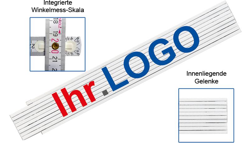 Maßstab 2m G10 mit Logo