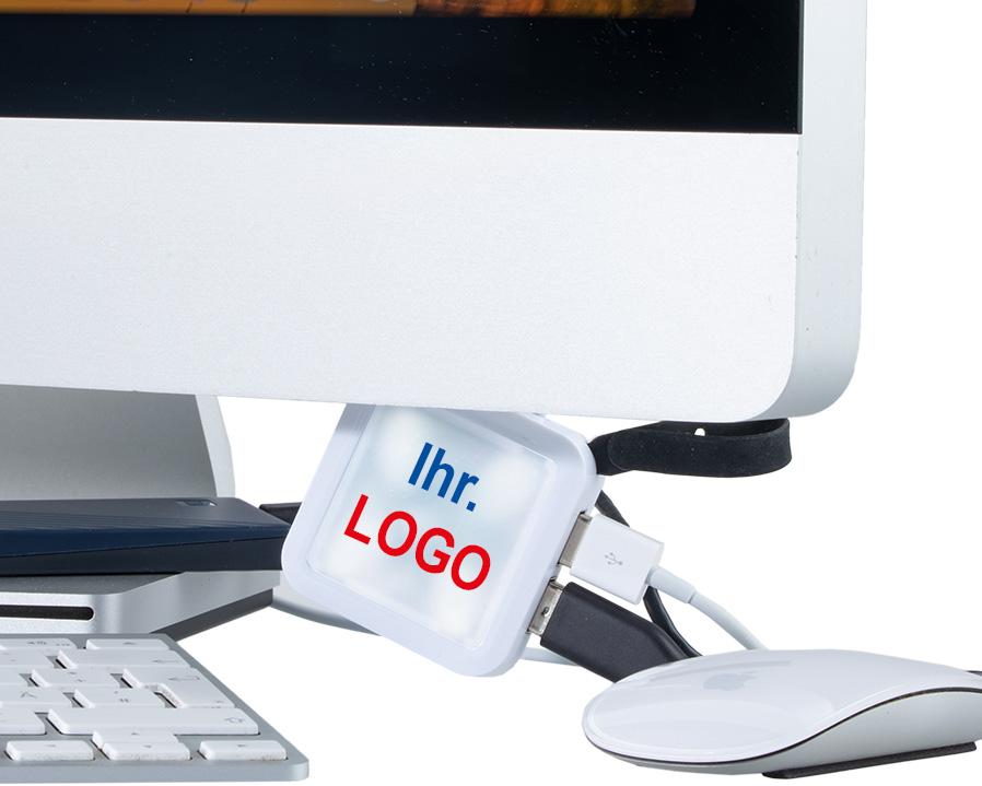 USB-Hub Quattro als bedrucktes Giveaway