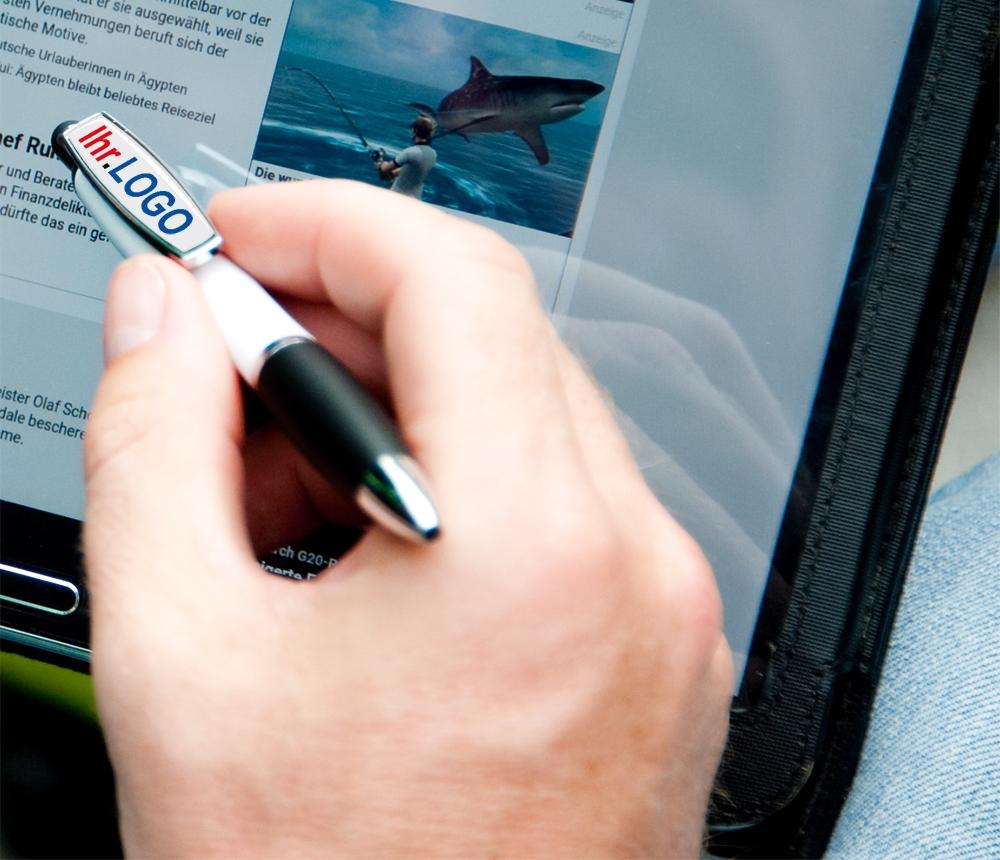 Doming Pen White Star als bedrucktes Giveaway
