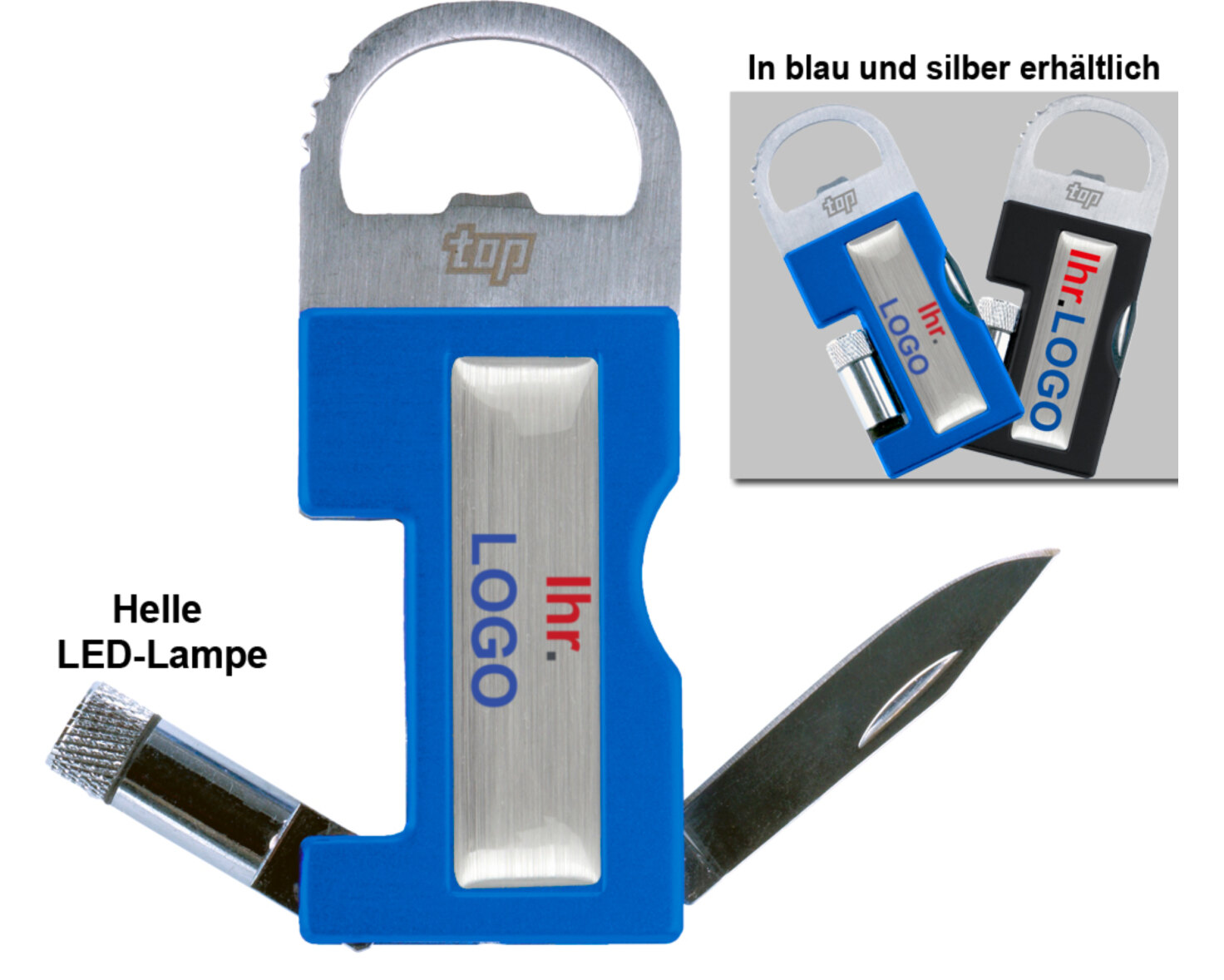 LED-Flaschenöffner Tool als bedrucktes Werbegeschenk