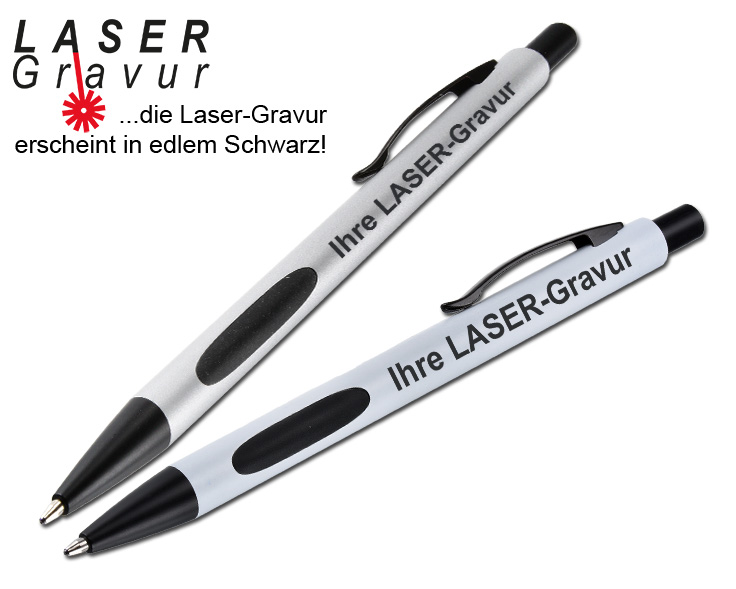 Black-Line Kugelschreiber als graviertes Giveaway